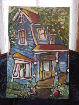 Painting of house in Old North Knoxville