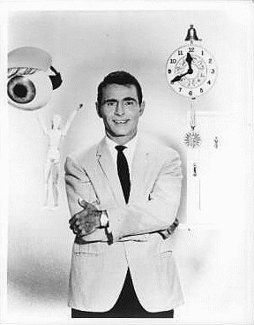 Rod Serling, host of The Twilight Zone